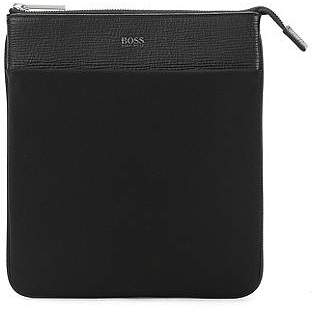 HUGO BOSS Envelope bag in nylon and leather