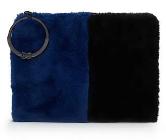 Sam Edelman Mavis Colorblock Fur Clutch