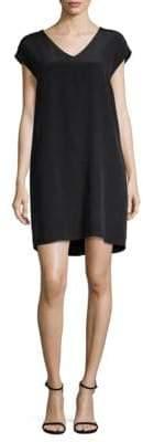 Leo & Sage Cap -Sleeve Silk Shift Dress