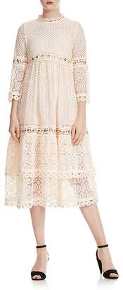 Maje Roso Grommet Lace Dress