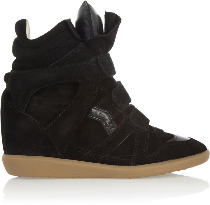 Isabel Marant The Bekett Suede Wedge Sneakers