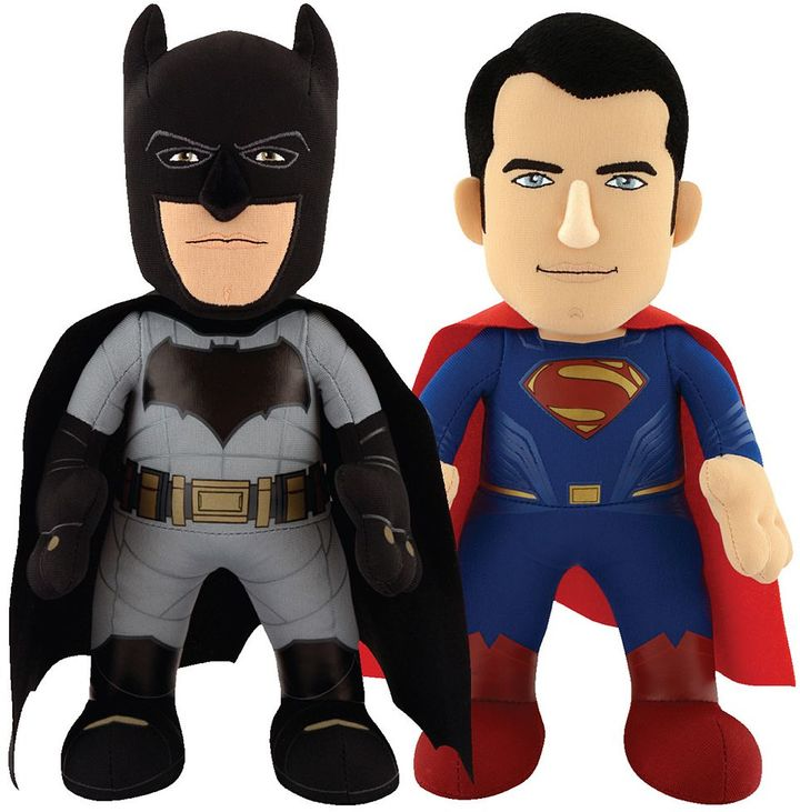 DC Comics Batman v Superman: Dawn of Justice 10-in. Plush Figures Armor Batman & Superman Set by Bleacher Creatures