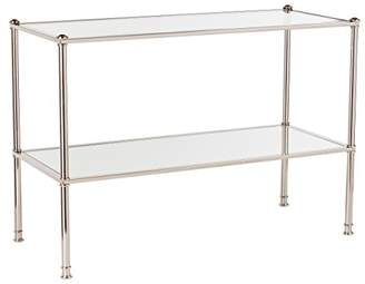 Paschall Console Table - 2 Tier Tempered Glass - Metallic Finish Metal Frame
