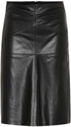Isabel Marant Gladys leather midi skirt