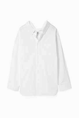 Balenciaga Swing Cotton-poplin Shirt - White