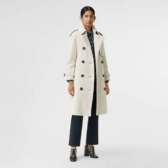 Burberry Tartan-lined Shearling Trench Coat