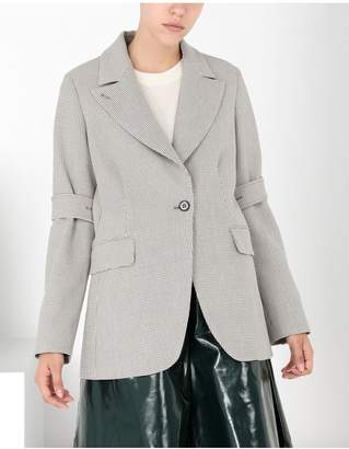Maison Margiela Jersey Tailored Jacket With Tabs