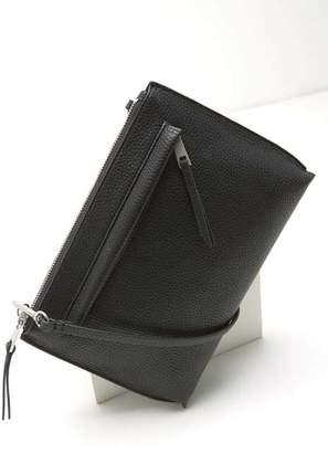 Mint Velvet Paige Black Zip Cross Body Bag