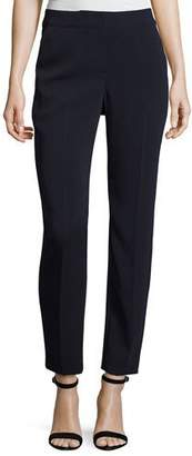 St. John Collection Classic Cady Stretch Cropped Pants, Navy $495 thestylecure.com