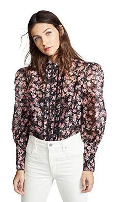 Keepsake The Label Women's One Love Puff Sleeve Floral Print Blouse Top