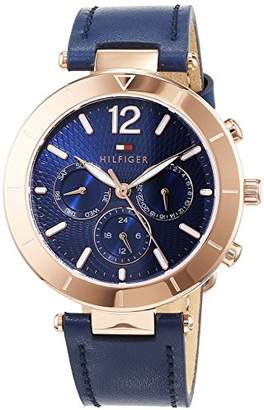 Tommy Hilfiger Unisex-Adult Multi dial Quartz Connected Wrist Watch with Leather Strap 1781881
