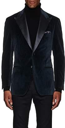 Sartorio Men's PG Paisley Velvet Two-Button Sportcoat - Teal