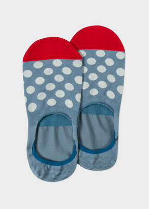 Paul Smith Men's Light Blue Polka Dot Loafer Socks