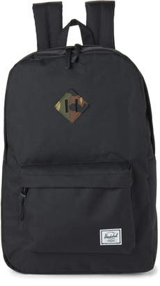 Herschel Black with Camo Heritage Backpack