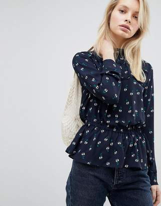 Only Floral Ruffle Blouse