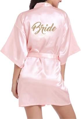 WPFING Bridesmaid Robes Purple Bridal Party Robe Glitter Customized