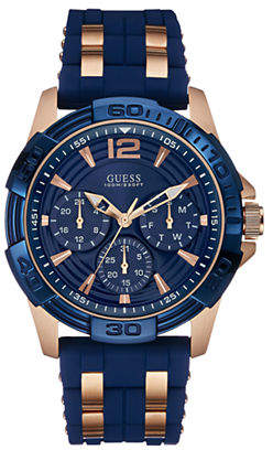 GUESS Mens Multifunction Silicone Watch W0266G4