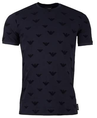 Giorgio Armani All Over Flocked Eagle Slim Fit T-shirt