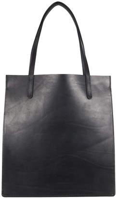 Open Habit Always Black Leather Tote