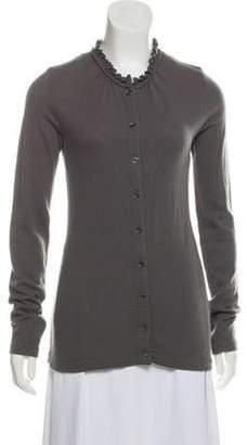 Burberry Gathered Cashmere Cardigan Grey Gathered Cashmere Cardigan