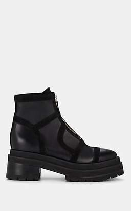 Pierre Hardy Women's Frame Leather & Suede Platform Ankle Boots - Black
