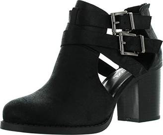 Soda Sunglasses Womens Scribe Ankle Bootie With Low Heel And Cut-Out Side Design Boots