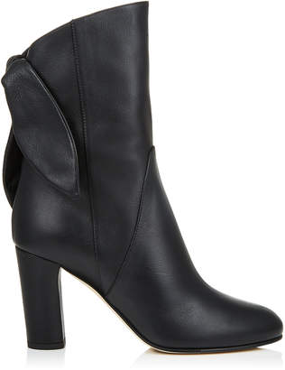 Jimmy Choo MALENE 85 Black Smooth Leather Boots
