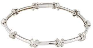 "18K Diamond ""X"" Link Bracelet"