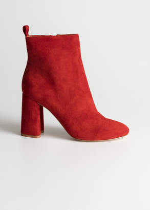 And other stories Sculpted Heel Suede Boots