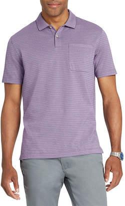 Van Heusen Short Sleeve Stripe Polo Shirt