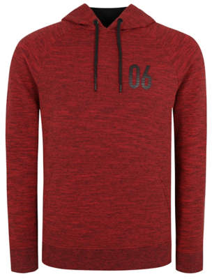 George Red Two-tone Brushed Hoodie