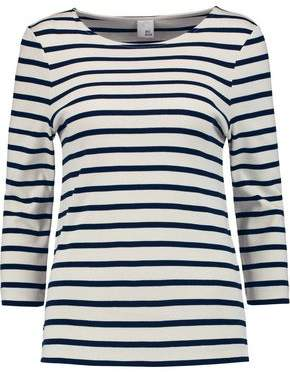 Excellent Cheap Online Iris & Ink Woman Madeline Breton Striped Cotton Top Navy Size S IRIS & INK Footlocker Pictures Online j5bOjGcx6