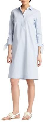 Lafayette 148 New York Talia Tie Cuff Shirtdress