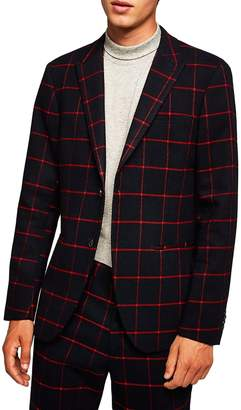 Topman Skinny Fit Check Sport Coat