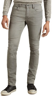 John Varvatos Star USA Seamed Motorcycle Super Slim Fit Jeans in Reflection Grey $228 thestylecure.com