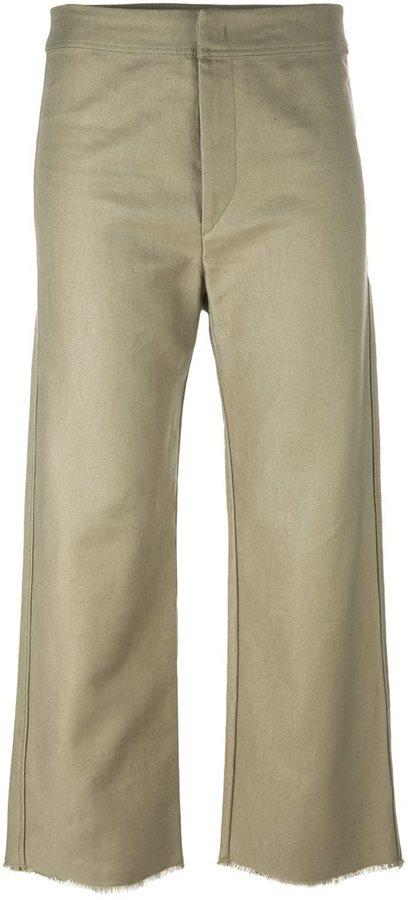 Isabel MarantIsabel Marant frayed edge cropped culottes