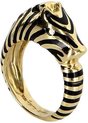 One Kings Lane Vintage Judith Leiber Zebra Ring 18k Gold