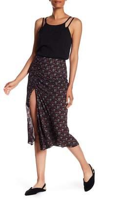 A.L.C. Devon Patterned Slit Silk Skirt