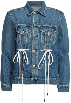 PSWL Denim Jacket with Lace-Up Detail