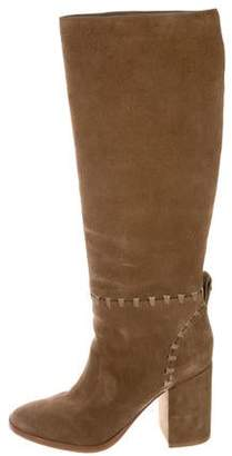 Tory Burch Suede Knee-High Boots
