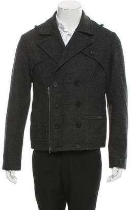 Richard Chai Fleece Wool Biker Jacket
