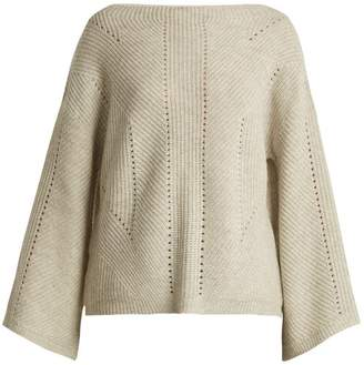 Nili Lotan Leyton Bell Sleeve Cashmere Sweater - Womens - Light Grey