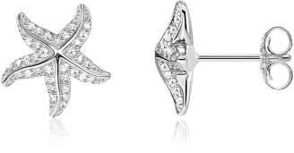 Thomas Sabo Sterling Silver Starfish Earrings w/White Zirconia