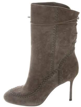 Andrea Gomez Military Suede Mid-Calf Boots w/ Tags