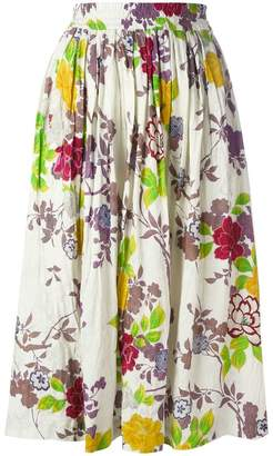 Etro floral print pleated skirt