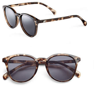Le Specs Bandwagon 50mm Round Sunglasses