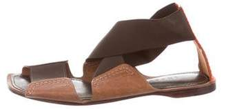 Theory Leather Crossover Sandals
