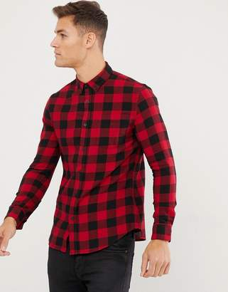 New Look regular fit shirt in red check
