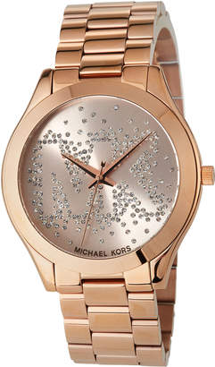 MICHAEL Michael Kors 42mm Crystal Bracelet Watch, Rose Golden