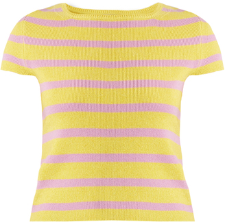 BARRIE Striped cashmere top